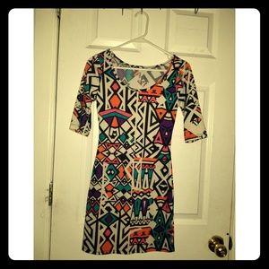 Colorful Pattern Bodycon Mini Dress size M